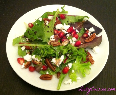 Pomegranate Pecan Salad - 700x573